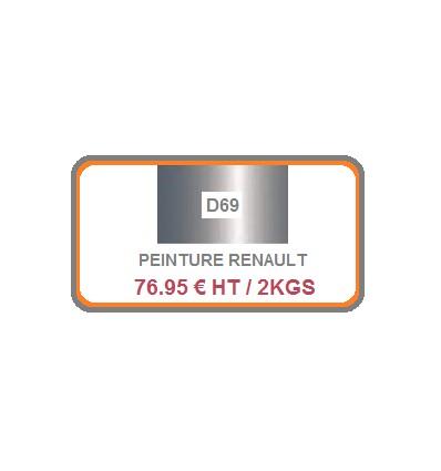Peinture auto Renault D69 (solvantée)